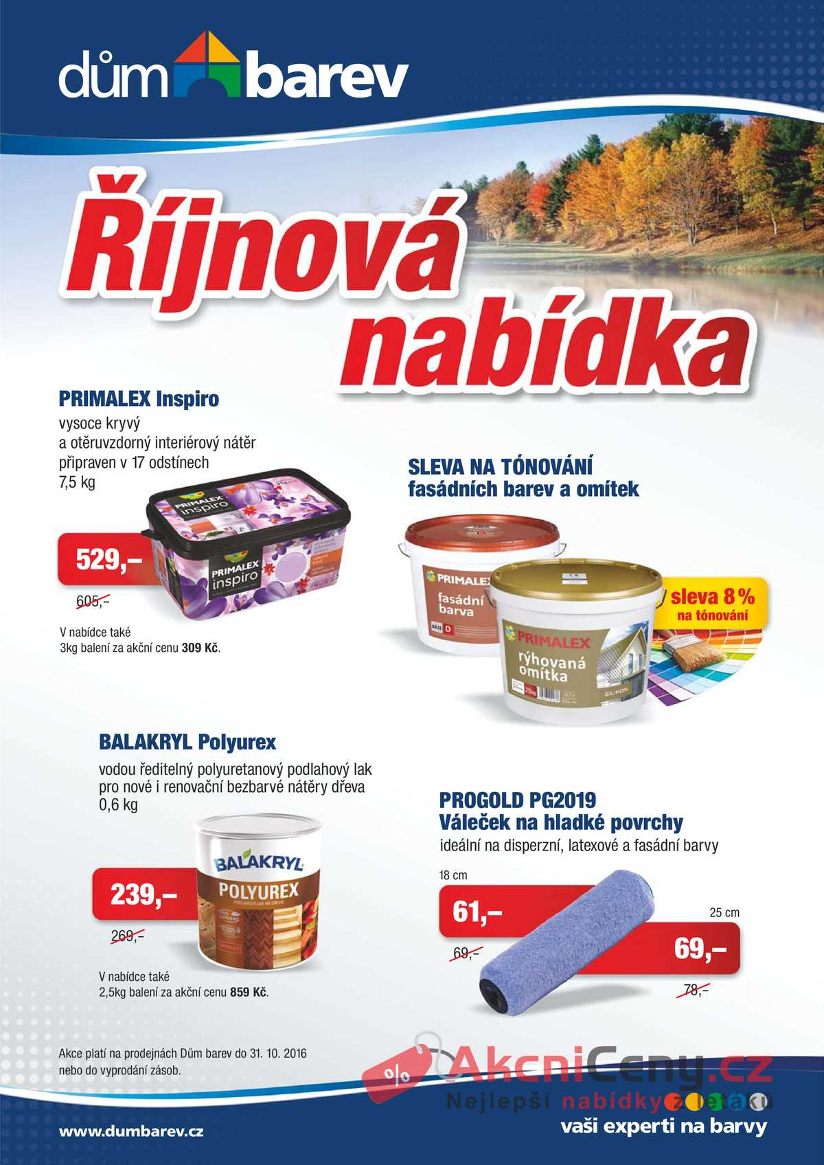Leták Dům barev - Dům barev 1.10. - 31.10. - strana 1