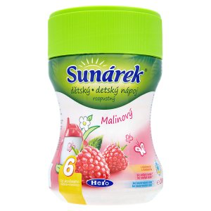 Sunárek Dětský rozpustný nápoj malinový 200g