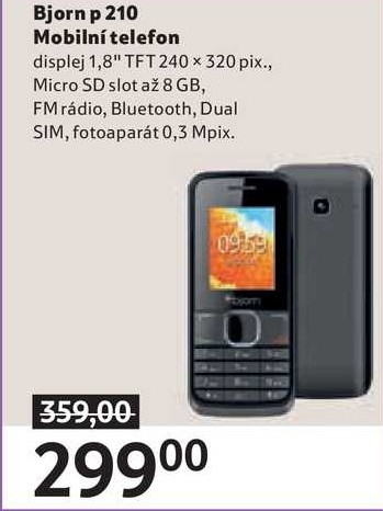 Bjorn p 210 Mobilní telefon