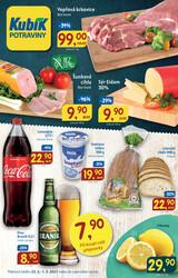 leták Kubík potraviny