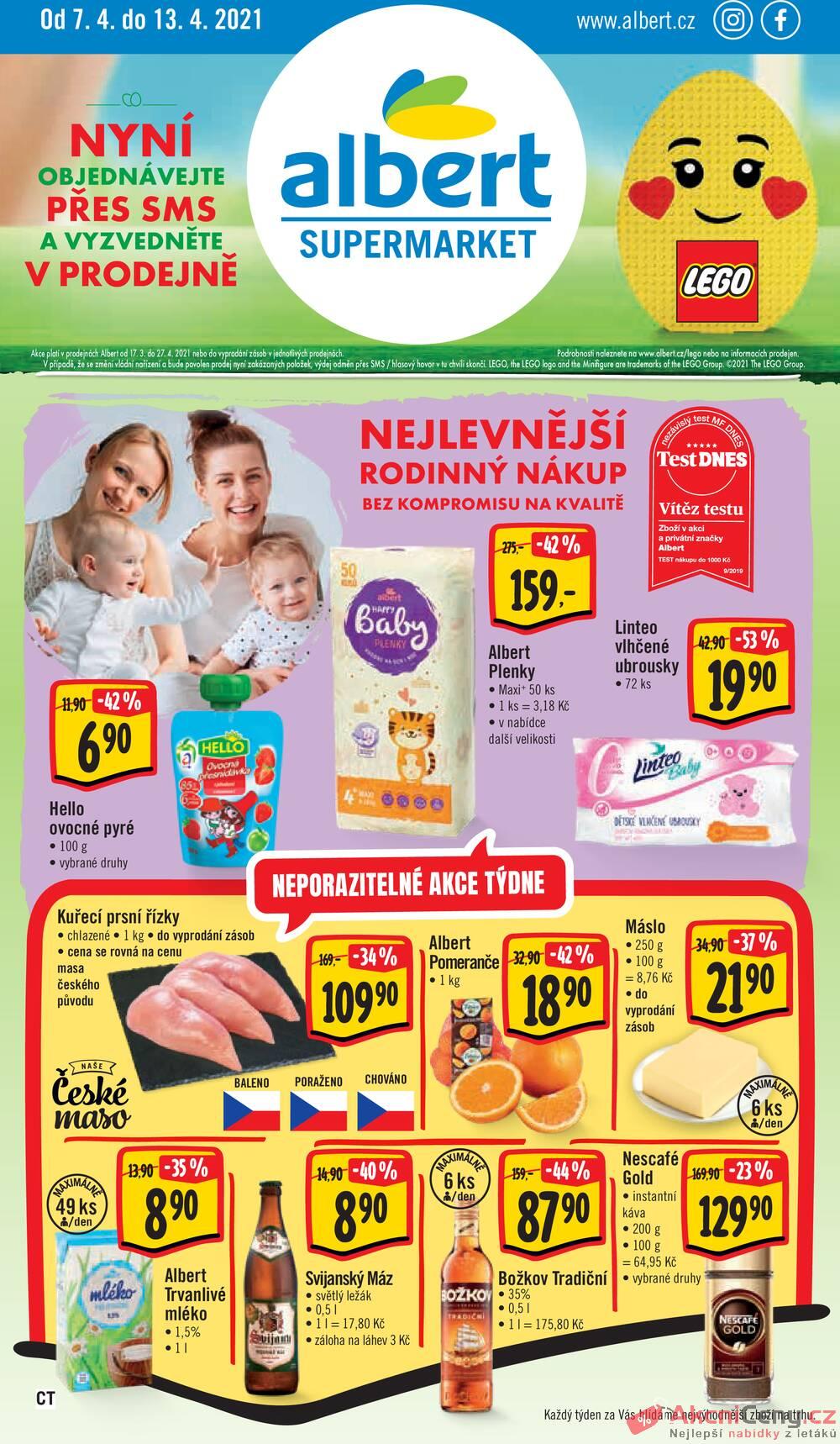 Leták Albert - Albert Supermarket CITY od 7.4. do 13.4.2021 - strana 1