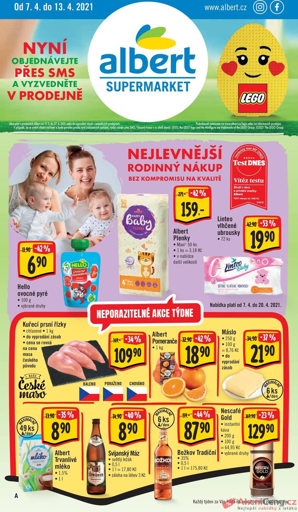 Leták Albert - Albert Supermarket od 7.4. do 13.4.2021 - strana 1