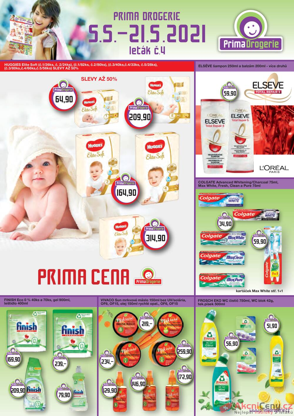 Leták Prima Drogerie - Prima drogerie  od 5.5. do 21.5.2021 - strana 1
