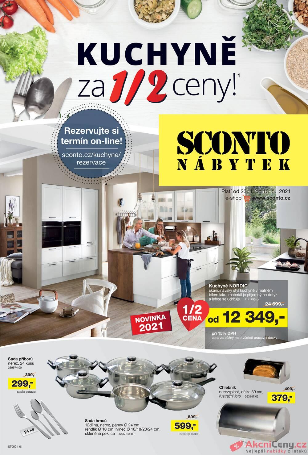 Leták Sconto nábytek - Sconto nábytek od 23.4. do 13.5.2021 - strana 1
