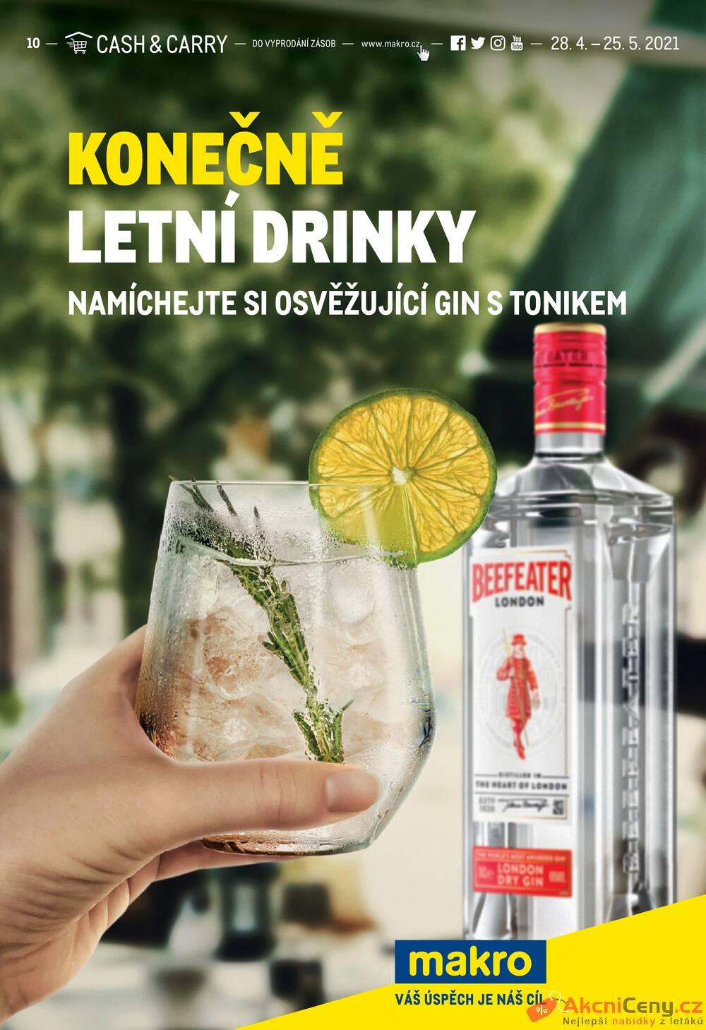 Leták MAKRO - Makro Konečně letní drinky do 25.5. - strana 1