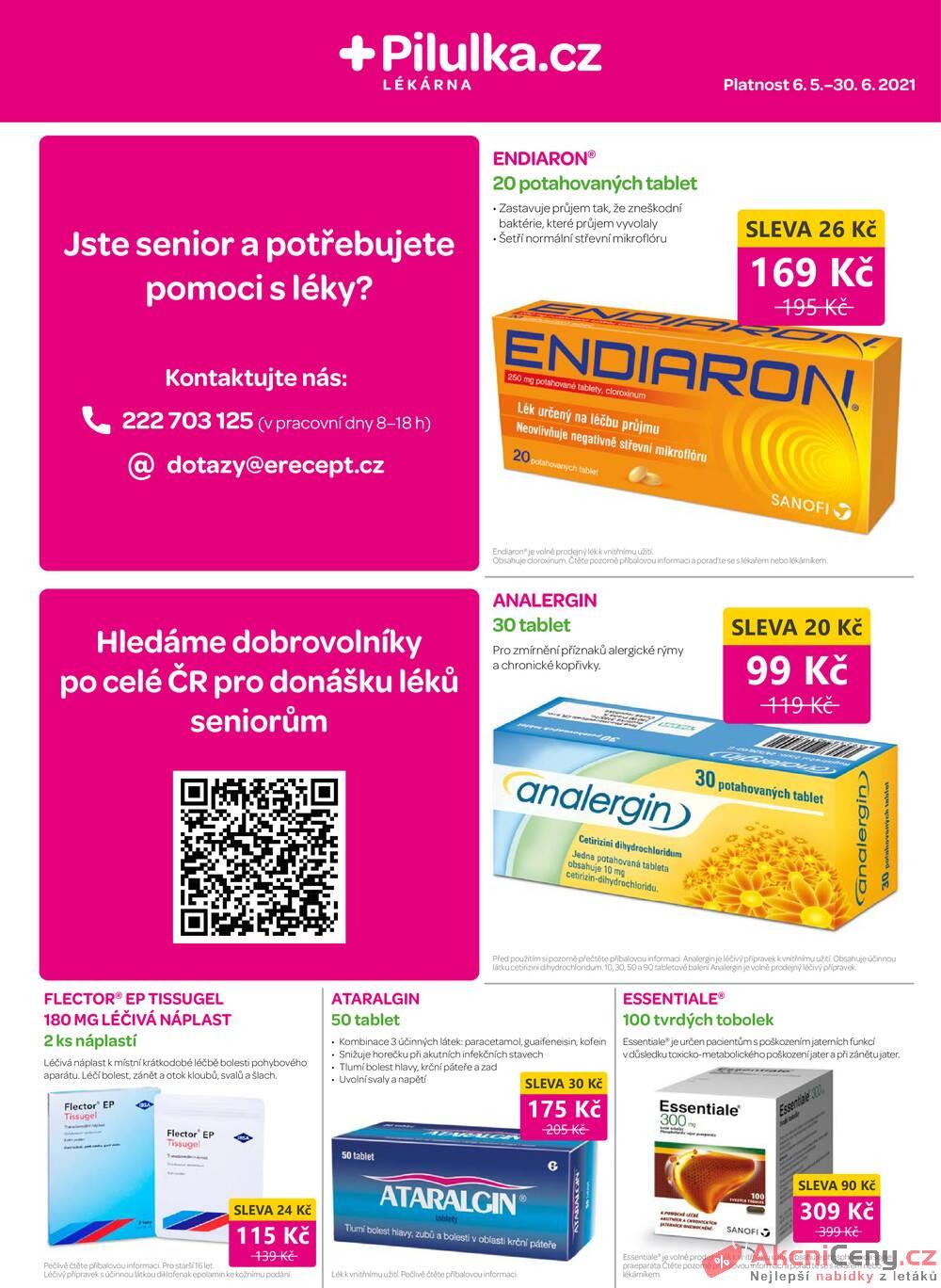 Leták Pilulka lékárna - Pilulka lékárna od 6.5. do 30.6.2021 - strana 1