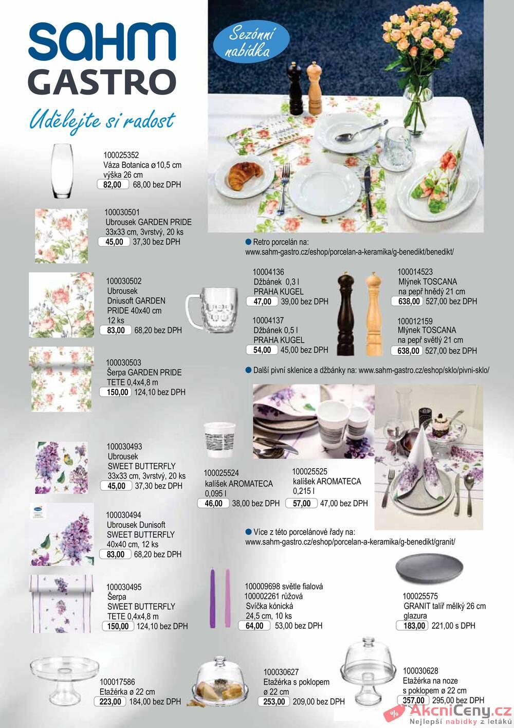 Leták Sahm Gastro - Sahm Gastro Retail od 19.5. do 30.7.2021 - strana 1