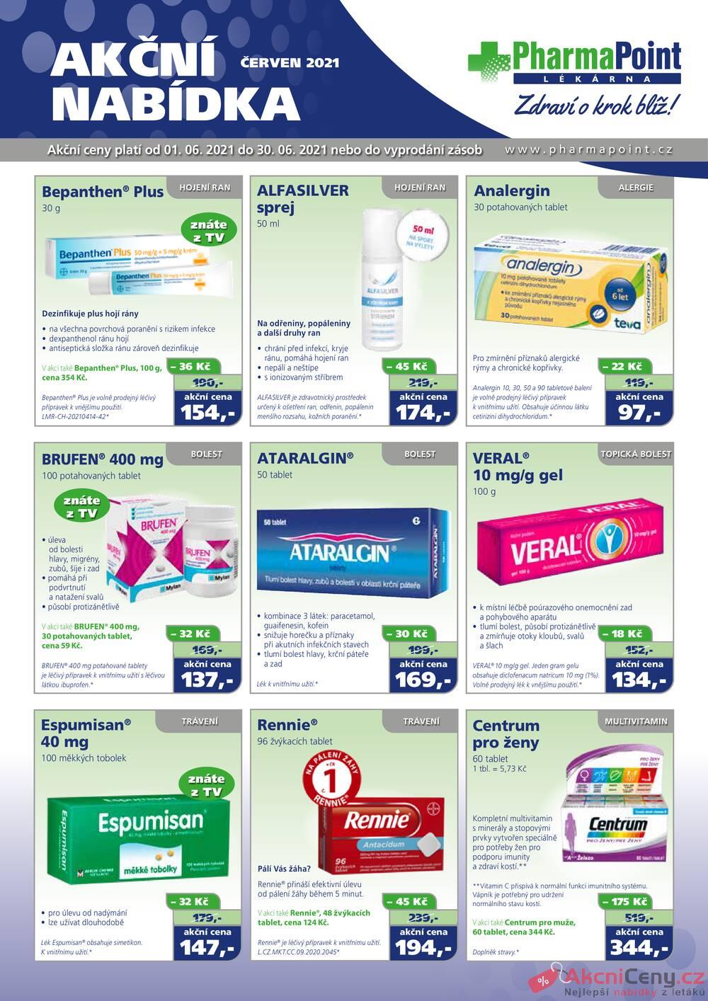 Leták PharmaPoint  - Pharma Point typ A od 1.6. do 30.6.2021 - strana 1