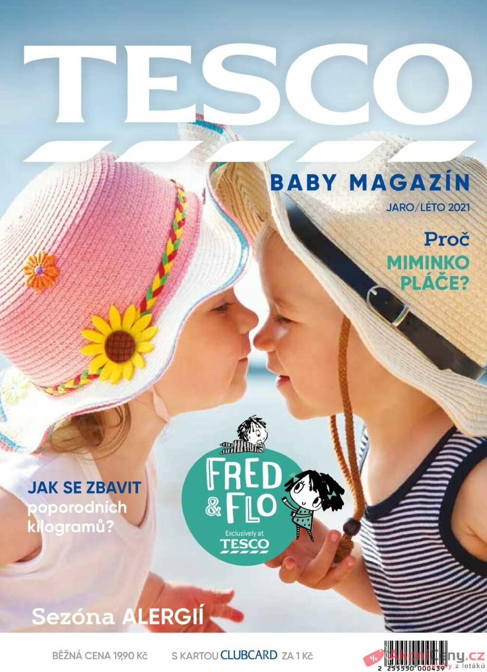Leták Tesco - Tesco Baby magazín Jaro/Léto do 21.10. - strana 1