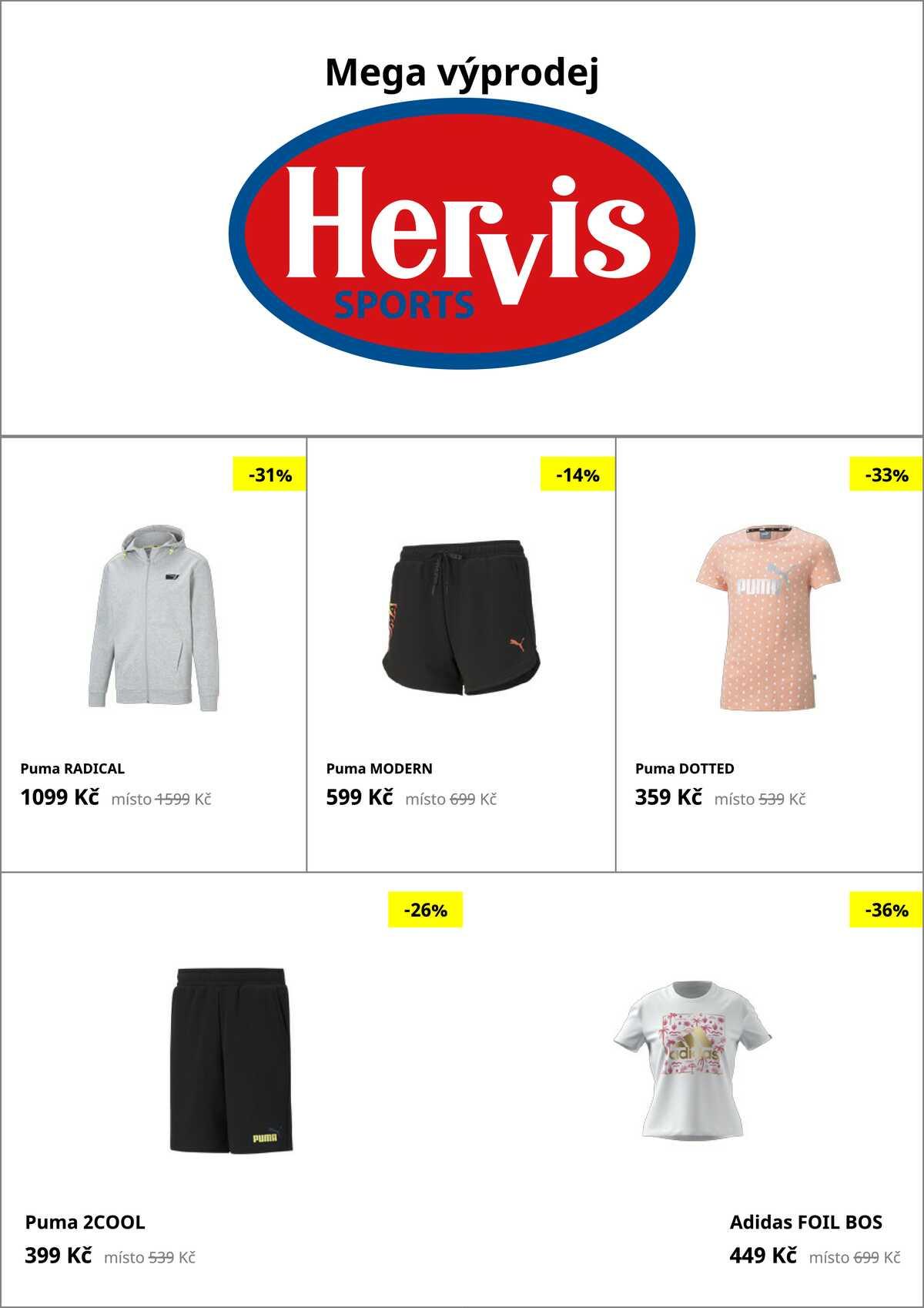 Leták Hervis strana 1/35