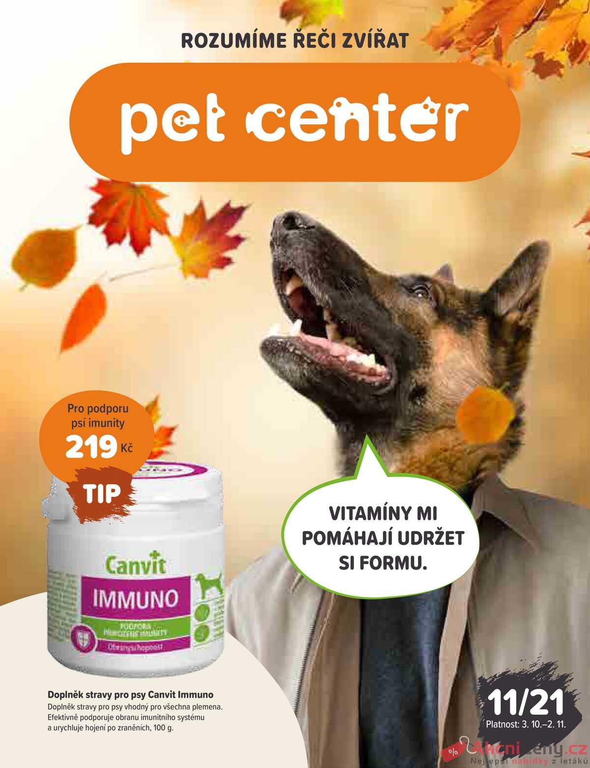 Leták Pet Center strana 1/20