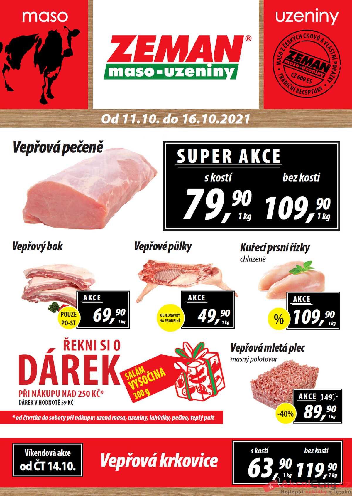 Leták ZEMAN maso-uzeniny strana 1/2