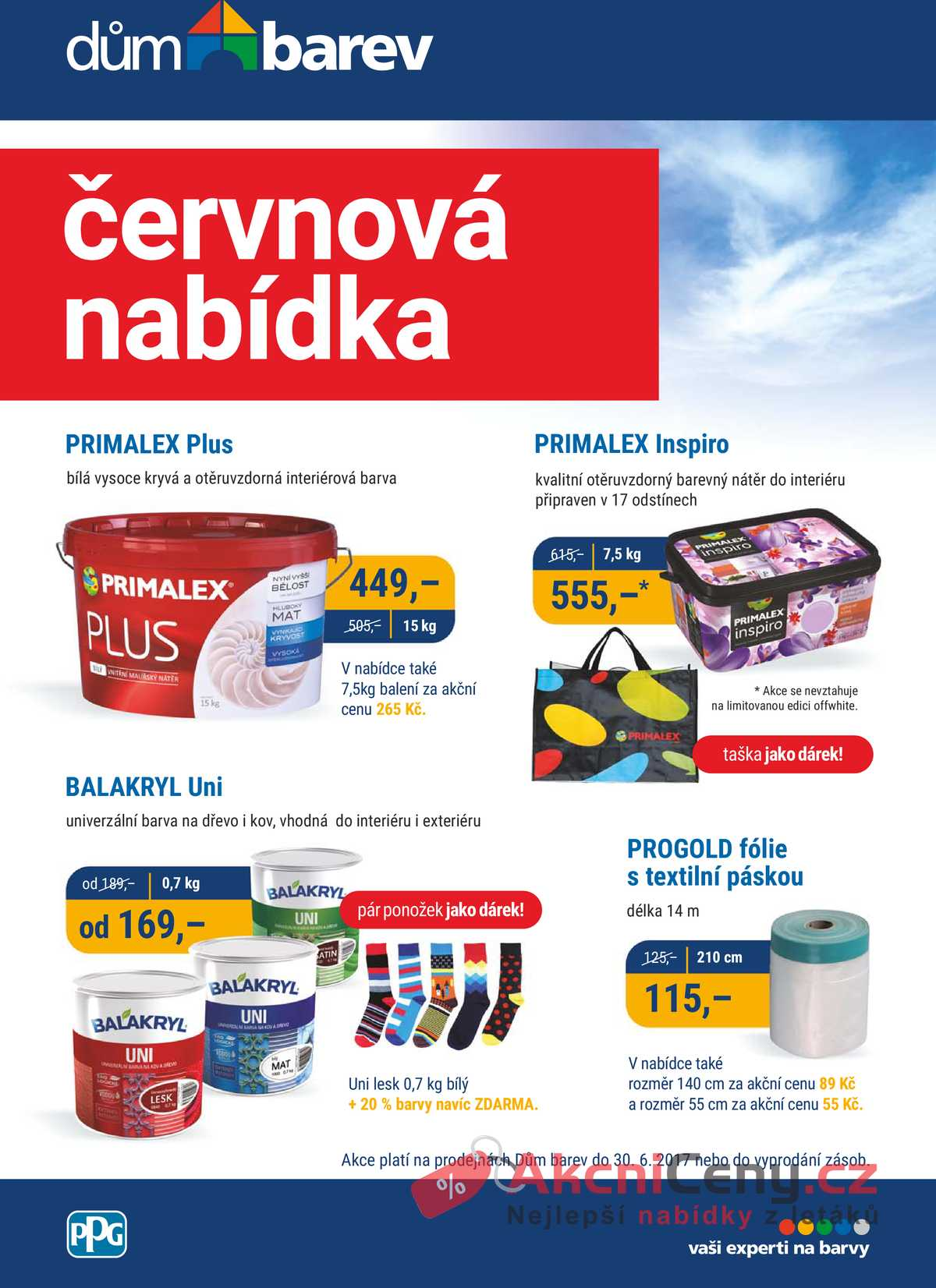 Leták Dům barev - Dům barev 1.6. - 30.6. - strana 1