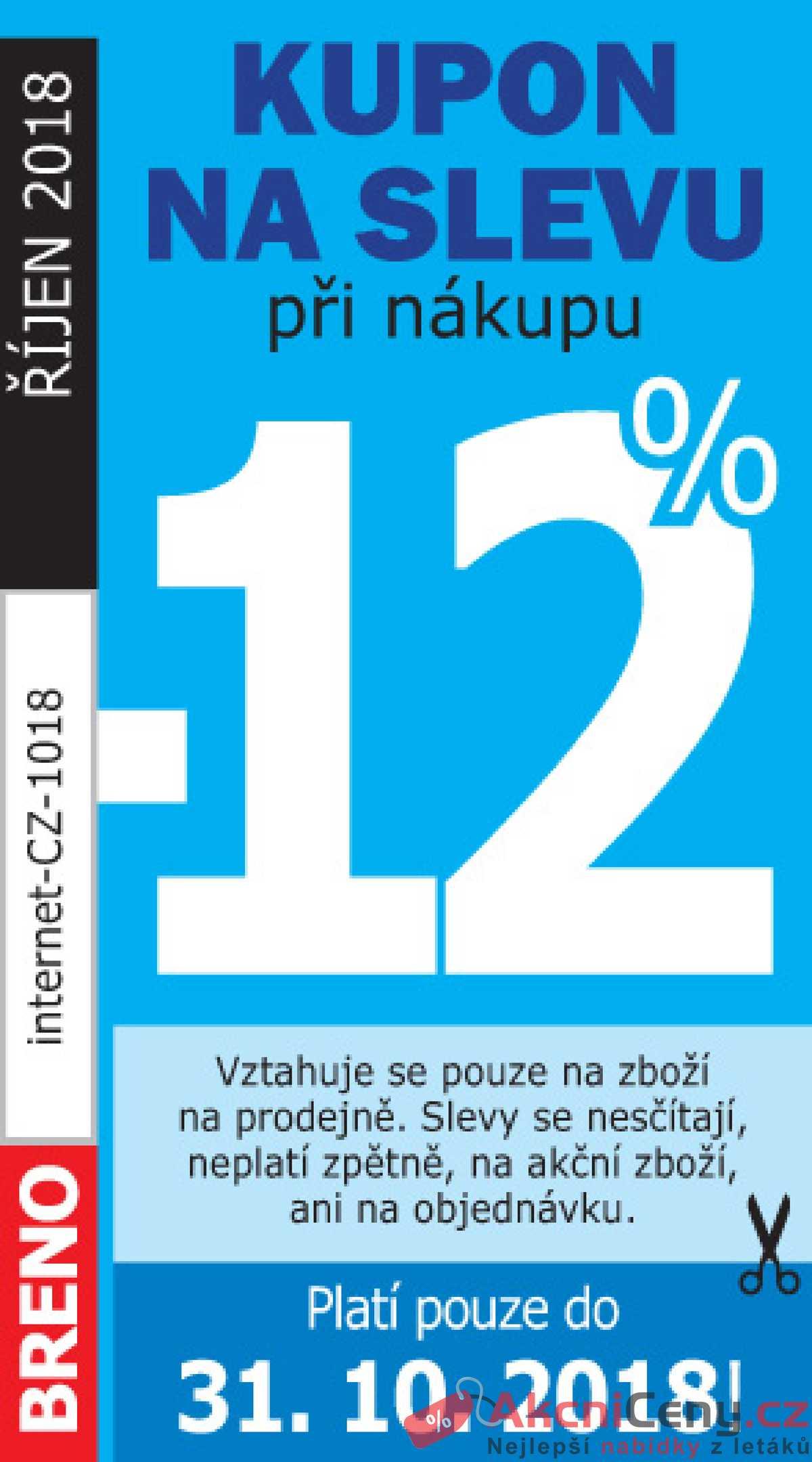 Leták Koberce BRENO - Koberce Breno kupon do 31.10. - strana 1