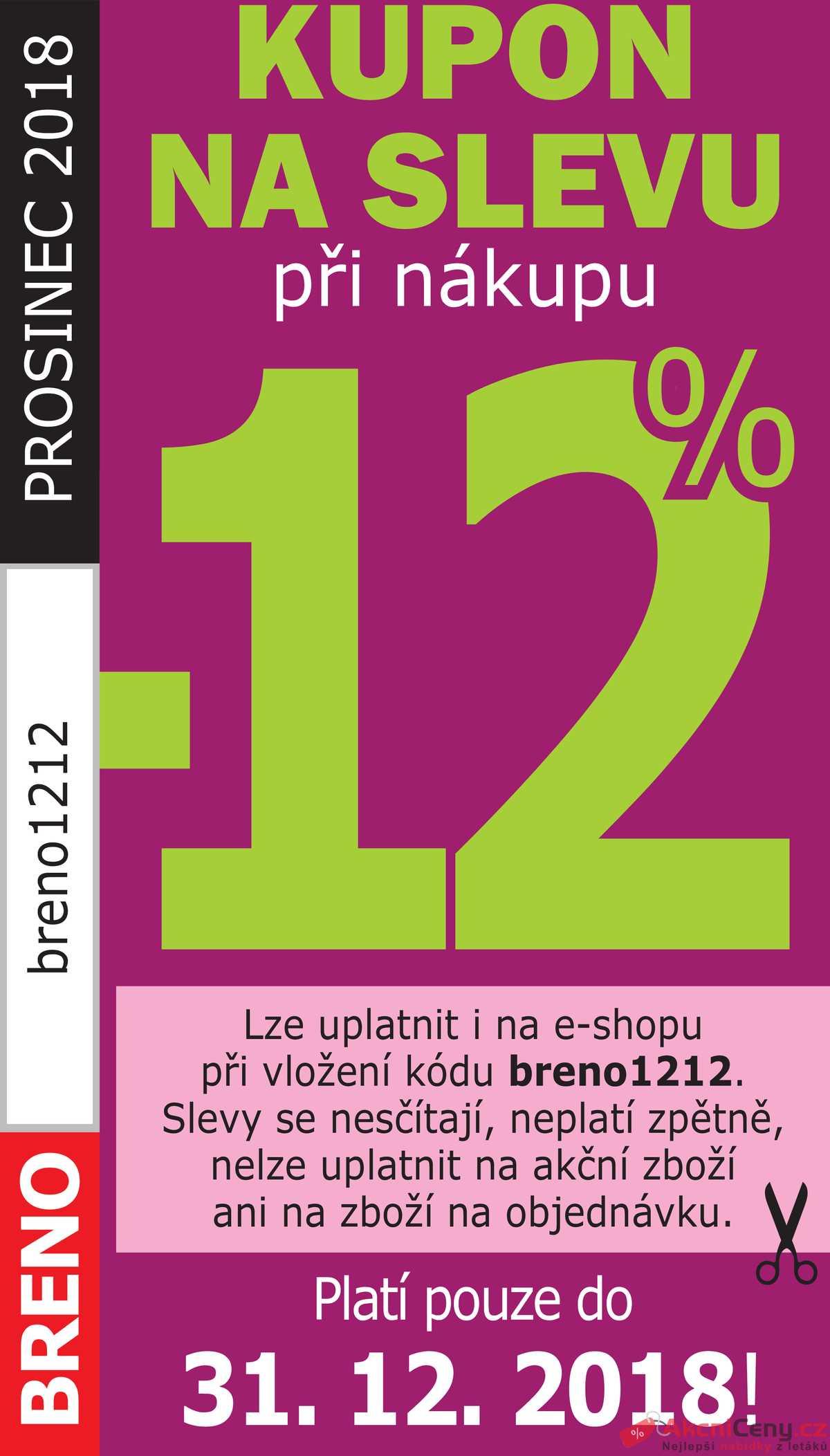Leták Koberce BRENO - Koberce Breno kupon do 31.12. - strana 1