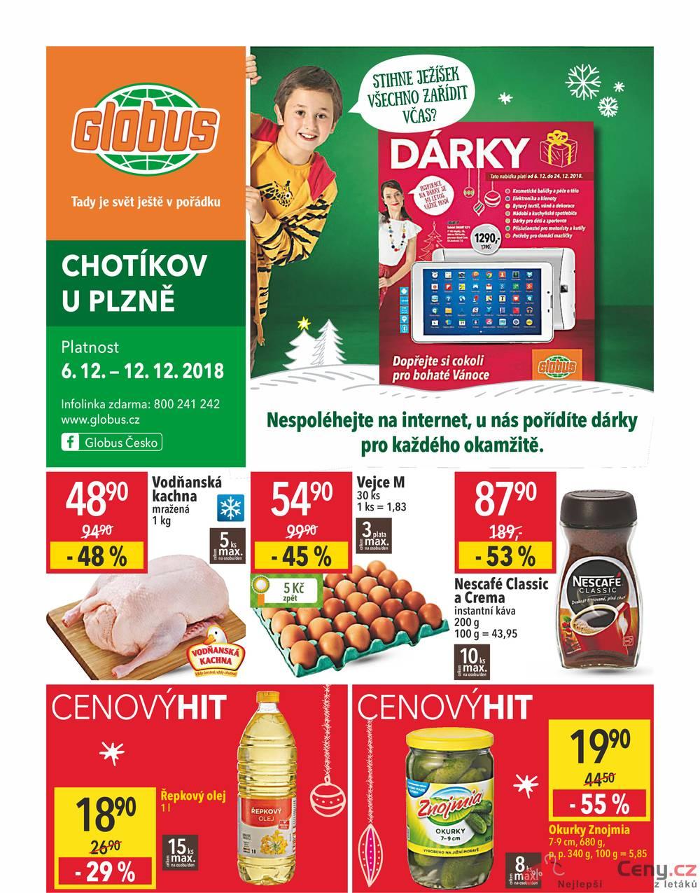Leták Globus - Globus Chotíkov  6.12. - 12.12. - strana 1