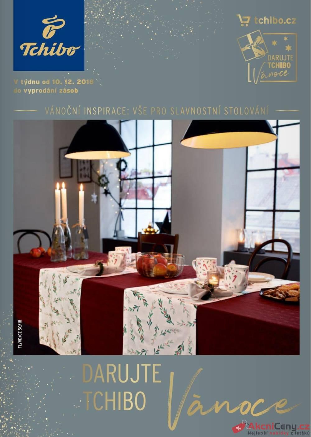 Leták Tchibo - Tchibo magazín 11.12. - 22.1. - strana 1