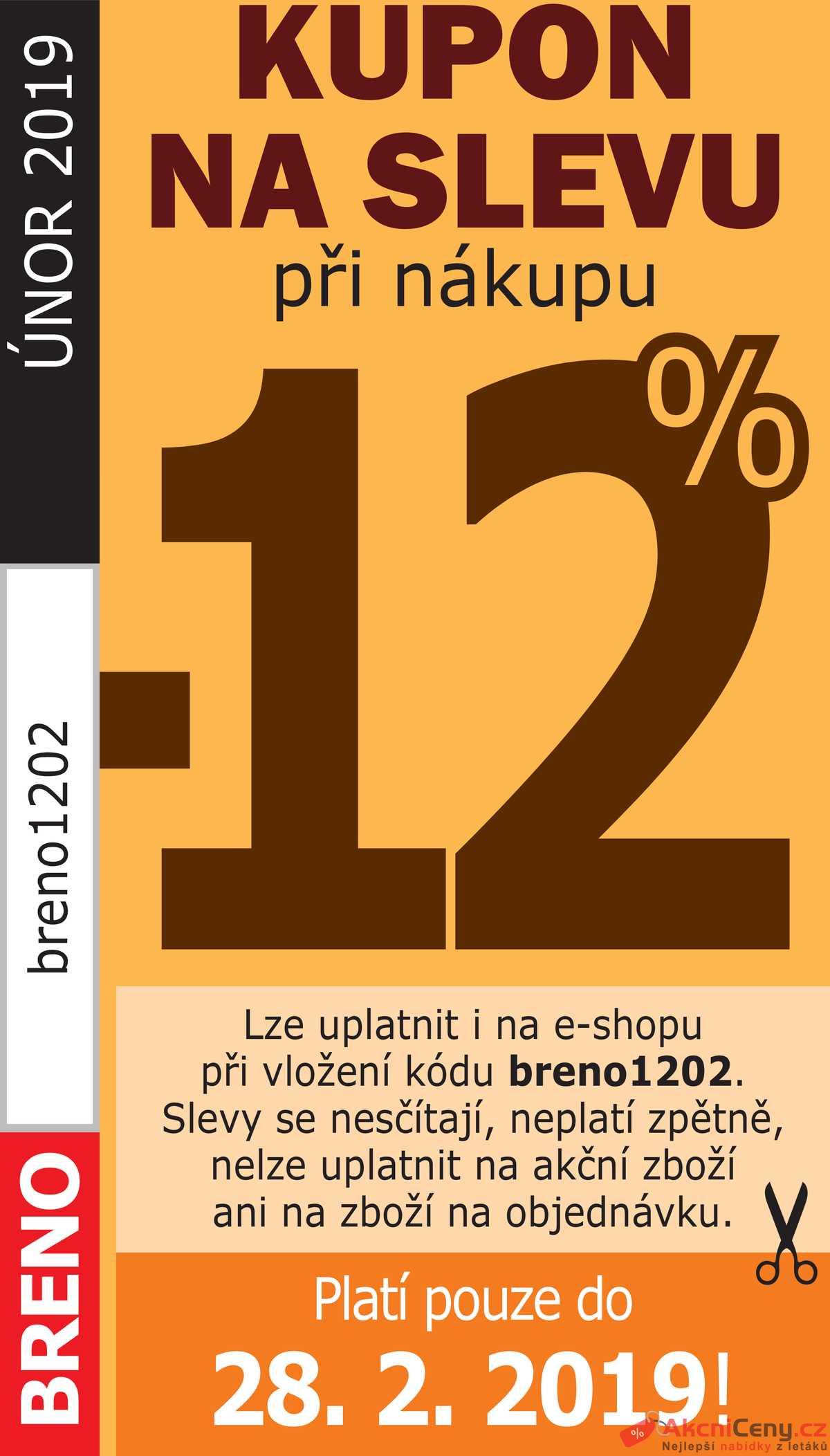 Leták Koberce BRENO - Koberce Breno kupon do 28.2. - strana 1