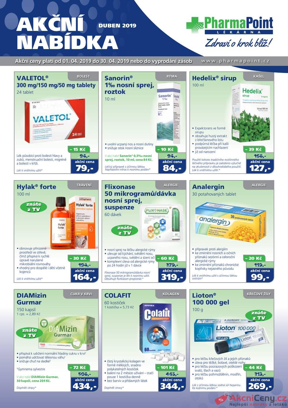 Leták PharmaPoint  - PharmaPoint 1.4. - 30.4. typ A - strana 1