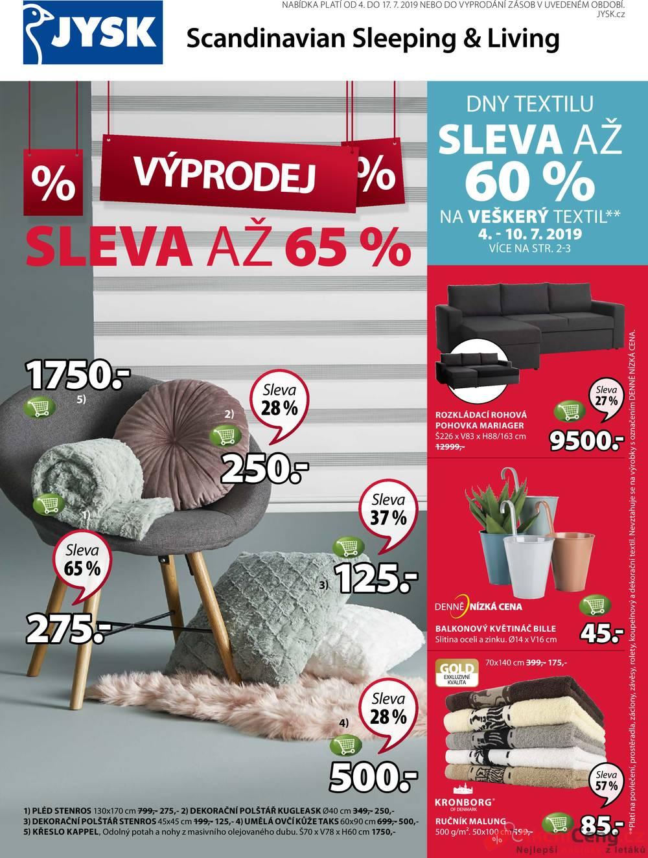 Leták Jysk - Jysk od 4.7. do 17.7.2019 - strana 1