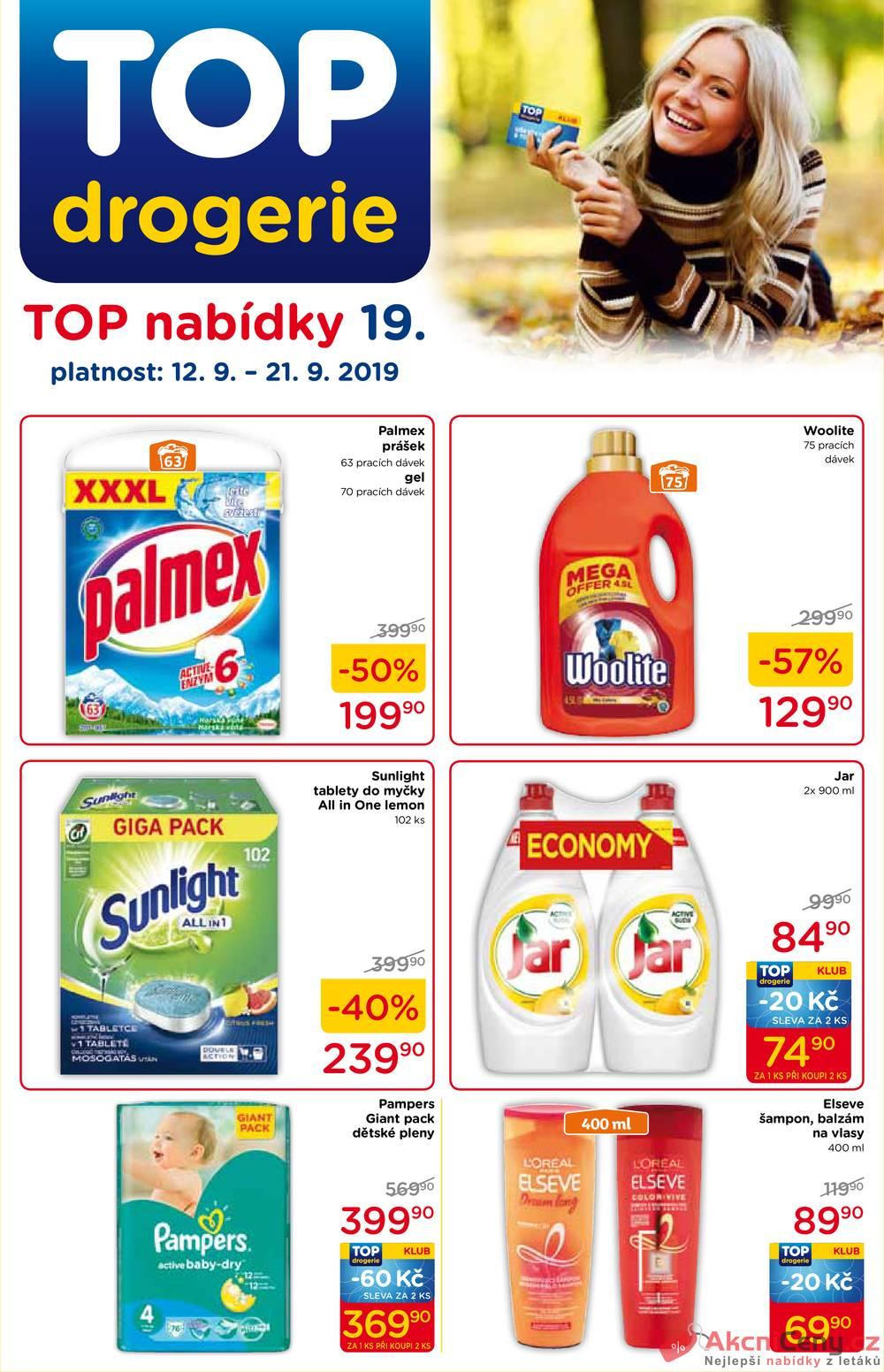 Leták TOP drogerie - TOP drogerie  od 12.9. do 21.9.2019 - strana 1