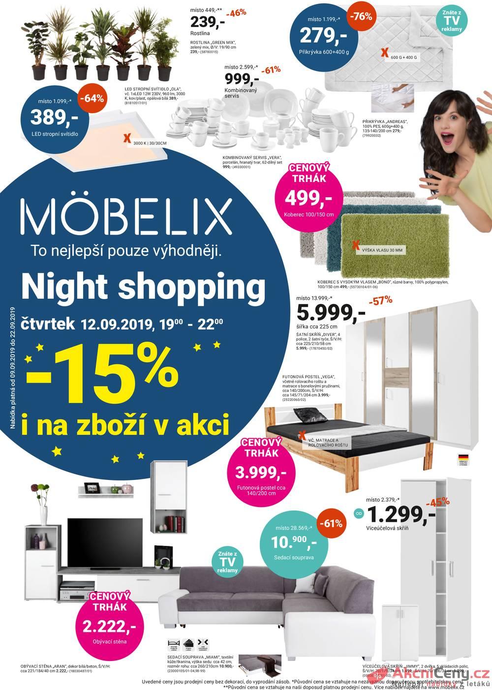 Leták Möbelix - Möbelix od 9.9. do 22.9.2019 - strana 1