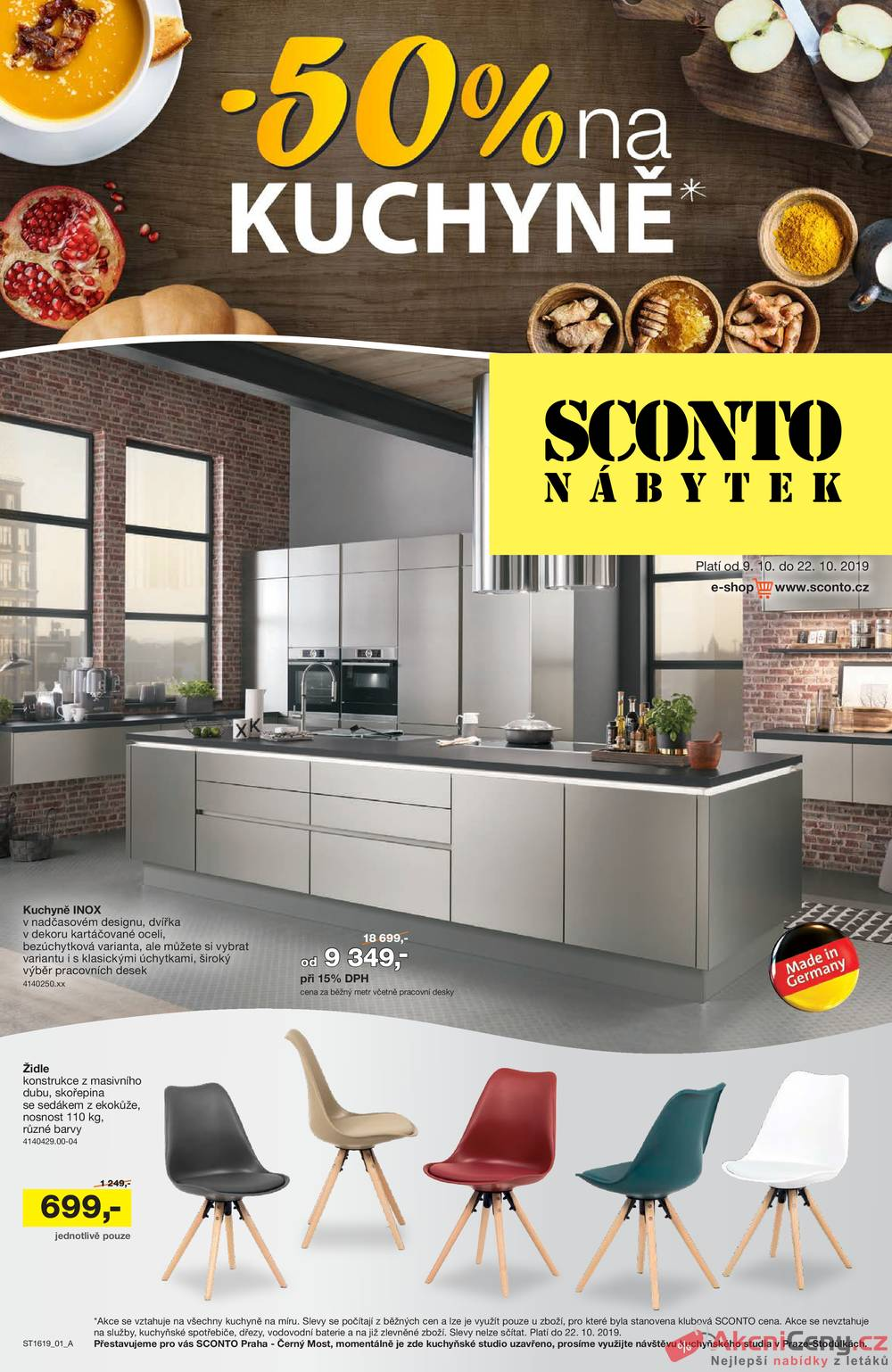 Leták Sconto nábytek - Sconto nábytek od 9.10. do 22.10.2019 - strana 1