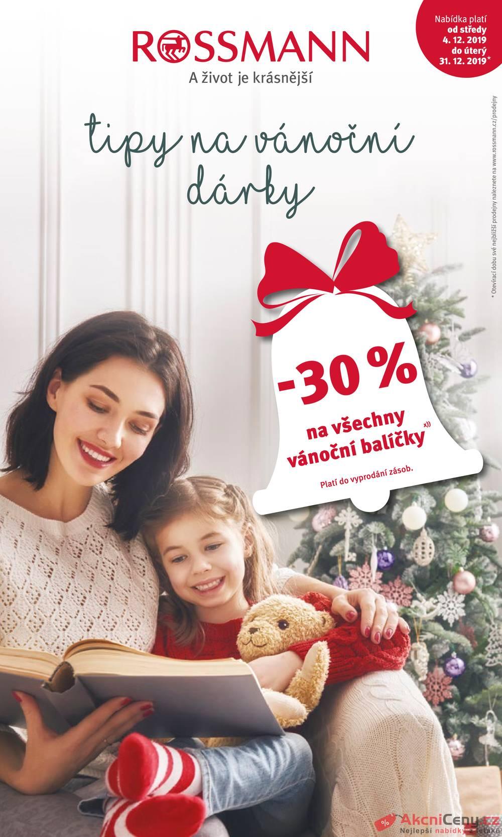 Leták ROSSMANN - Rossmann vánoční katalog od 4.12. do 31.12.2019 - strana 1