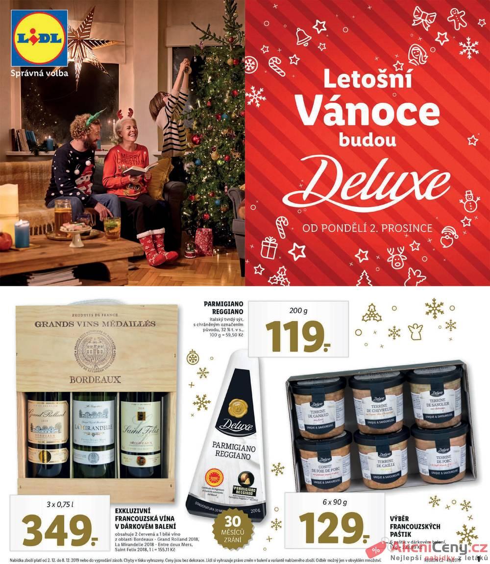 Leták Lidl - Lidl DELUXE Vánoce od 2.12. do 8.12.2019 - strana 1