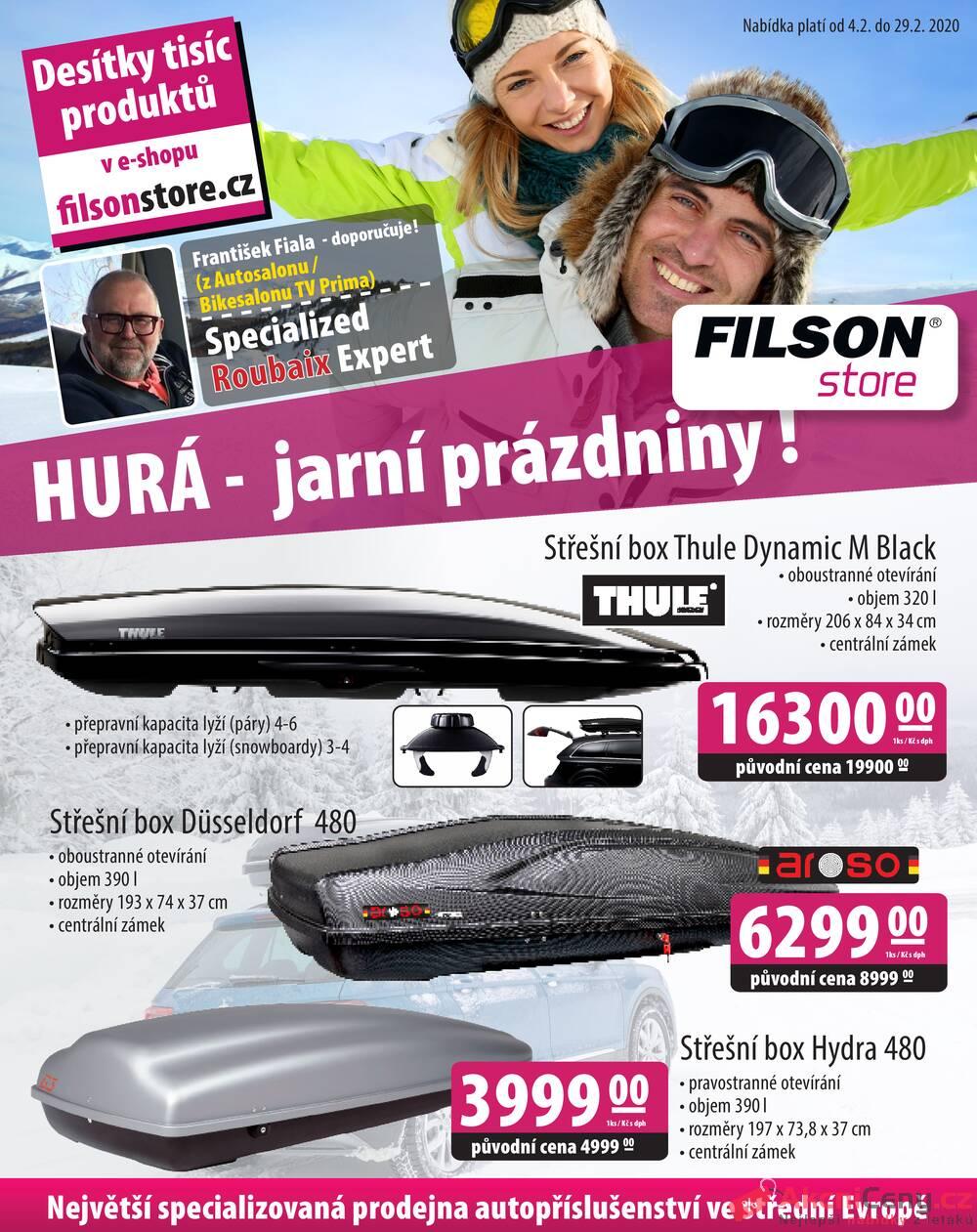 Leták Filson Store - Filson Store od 4.2. do 29.2.2020 - strana 1