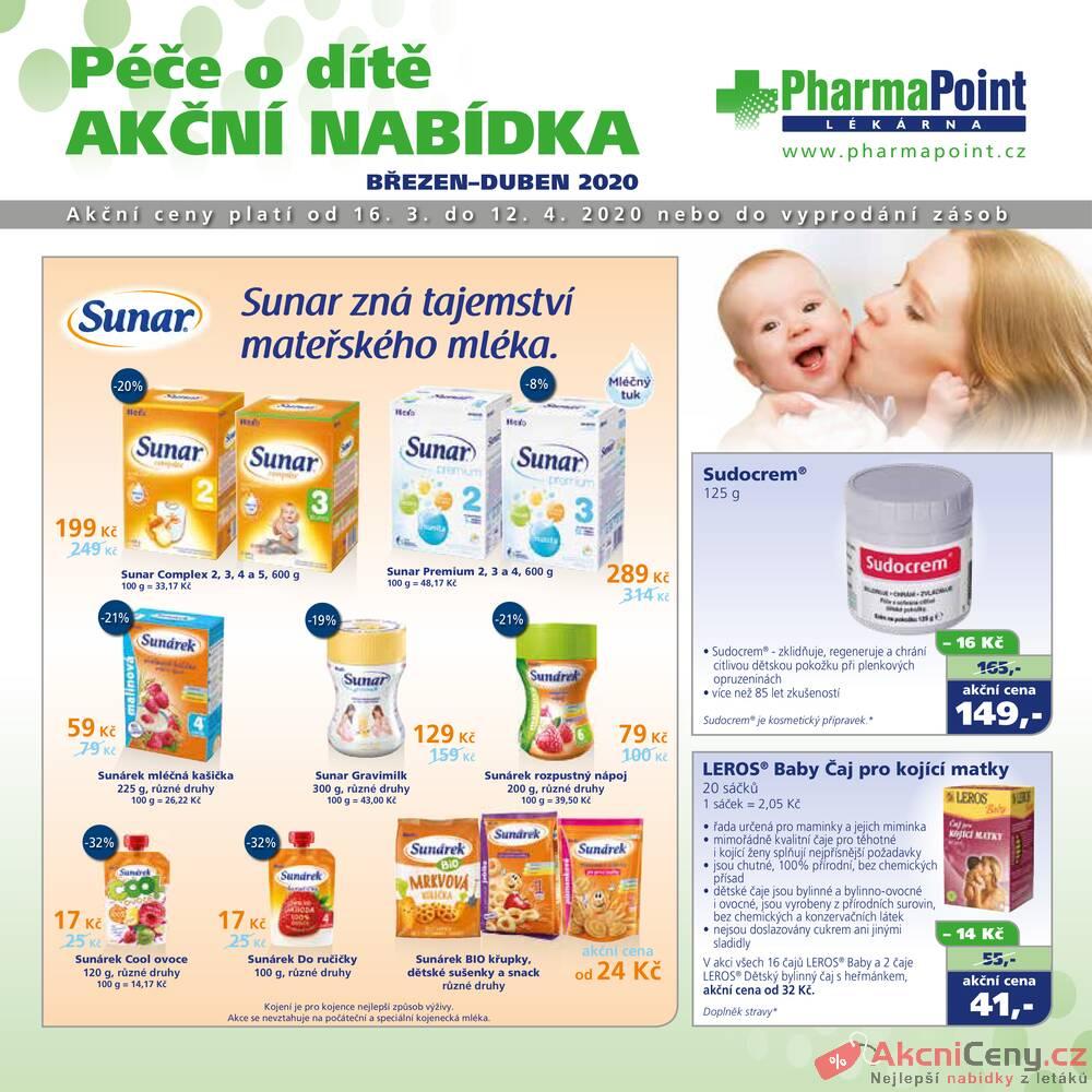 Leták PharmaPoint  - Pharma Point od 16.3. do 12.4.2020 - strana 1