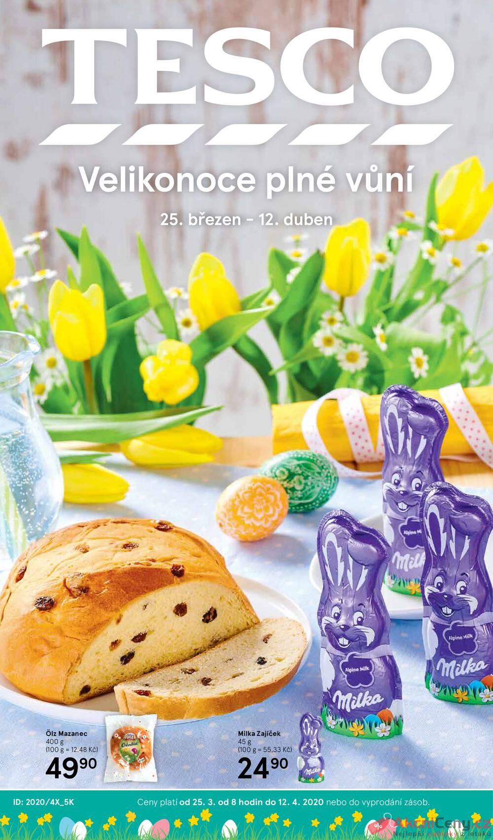 Leták Tesco - Tesco malé hypermarkety katalog Velikonoce od 25.3. do 12.4.2020 - strana 1