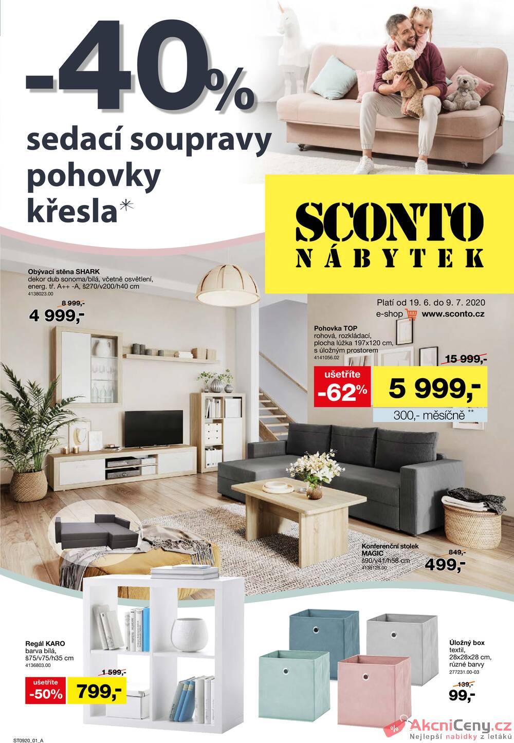 Leták Sconto nábytek - Sconto nábytek od 19.6. do 9.7.2020 - strana 1