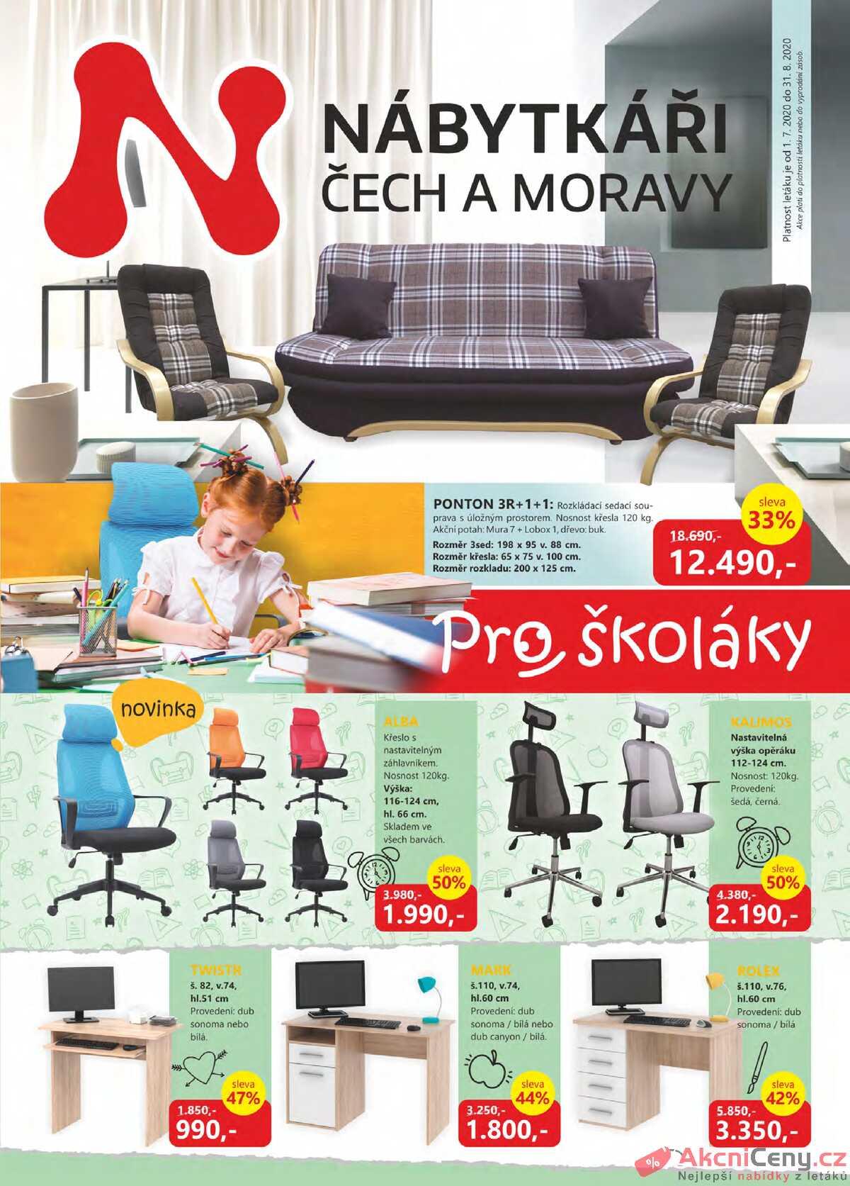 Leták Nábytkáři Čech a Moravy strana 1/4