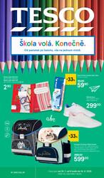 Leták Tesco SPECIÁL velké hypermarkety  od 29.7. do 16.8.2020