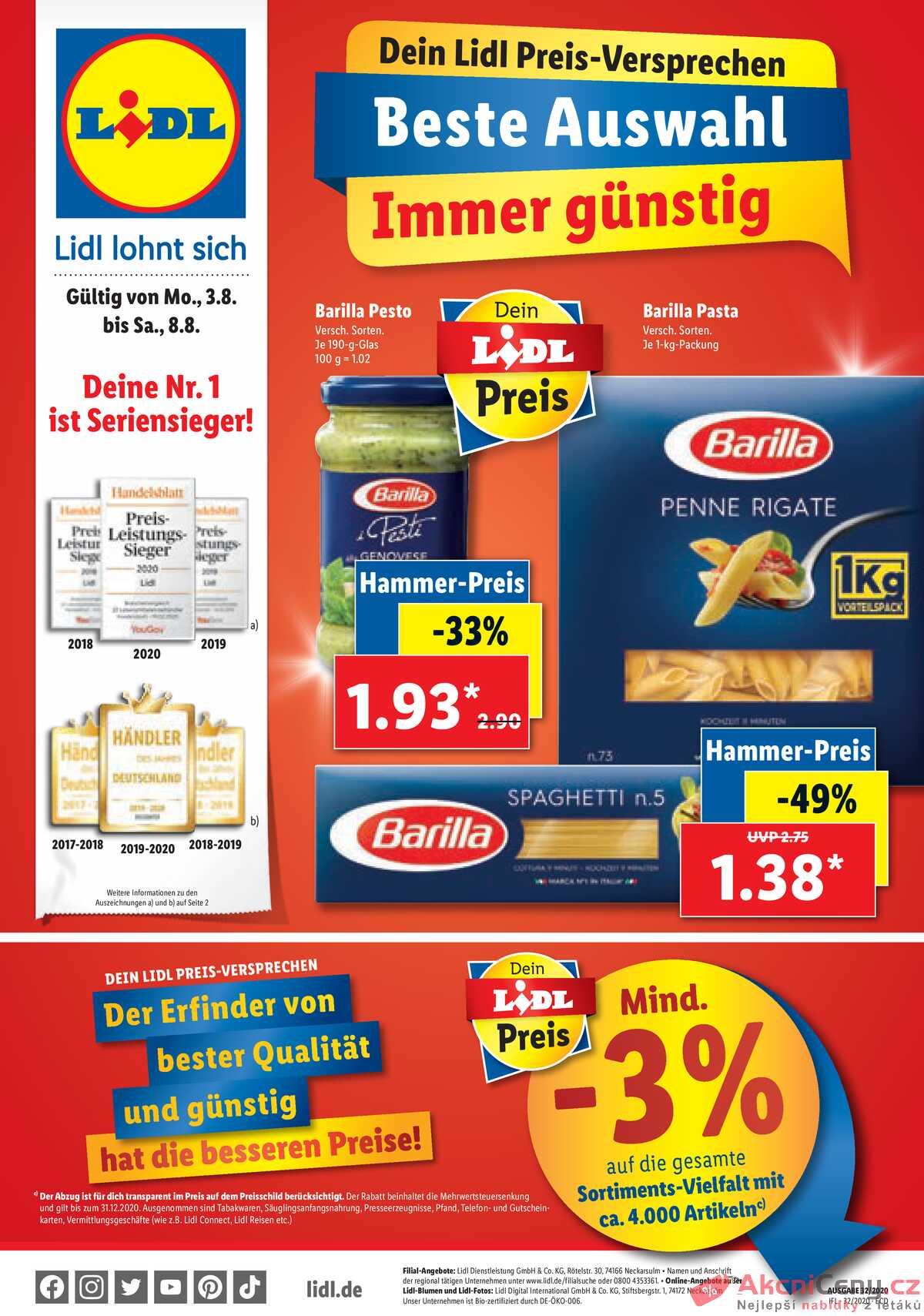 Leták Lidl Deutschland strana 1/40