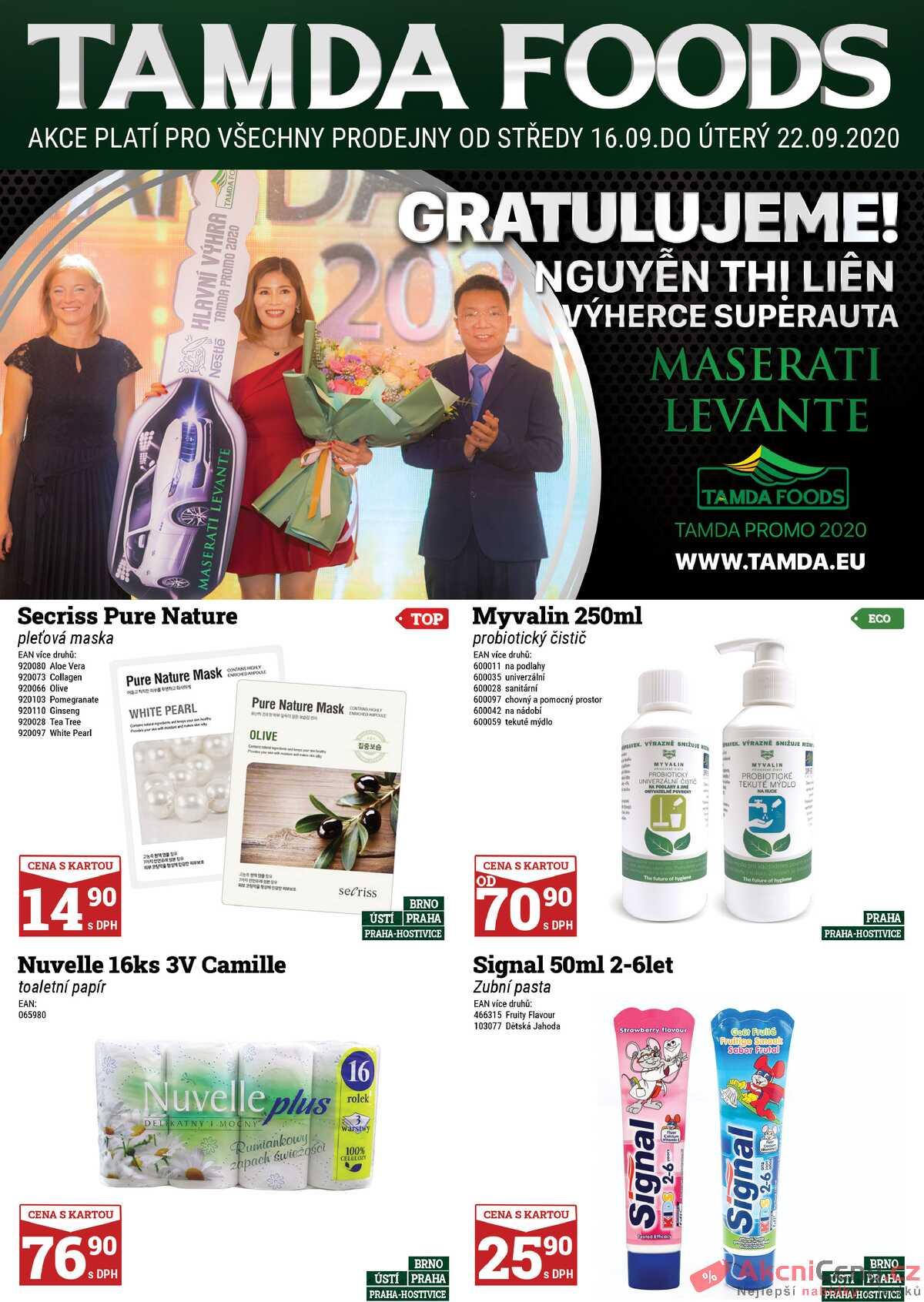 Leták Tamda Foods strana 1/24