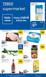 Leták Tesco supermarkety od 30.9. do 6.10.2020