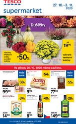 Leták Tesco supermarkety od 27.10. do 3.11.2020