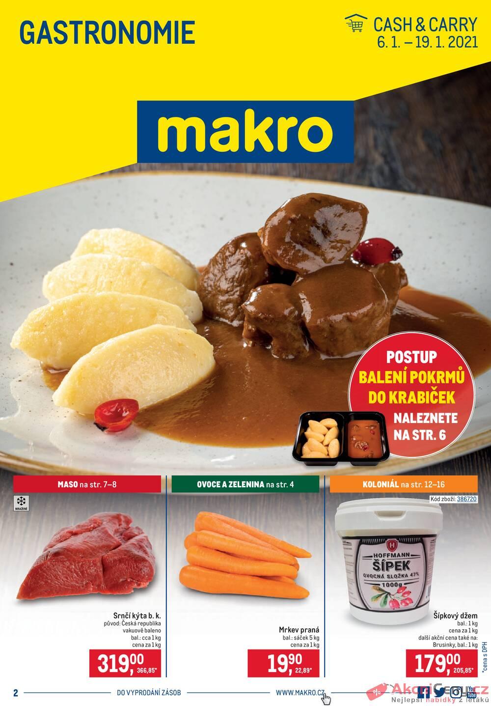Leták MAKRO - Makro Gastronomie do 19.1. - strana 1