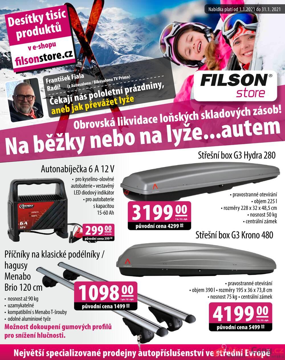 Leták Filson Store - Filson Store od 1.1. do 31.1.2021 - strana 1