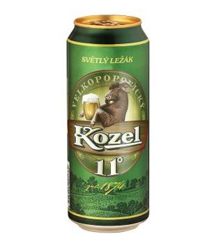 Velkopopovický Kozel 11° medium, světlý ležák (plechovka)