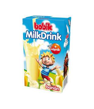 Bobík Milk drink ochucený nápoj 250ml, vybrané druhy