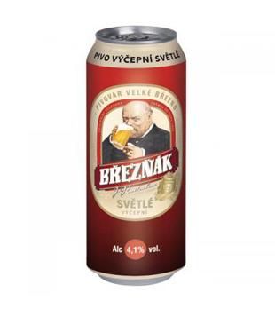 Březňák, světlé výčepní pivo (plechovka)