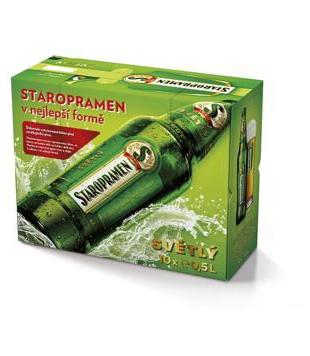 Staropramen Světlý, výčepní pivo (10 lahví) v akci