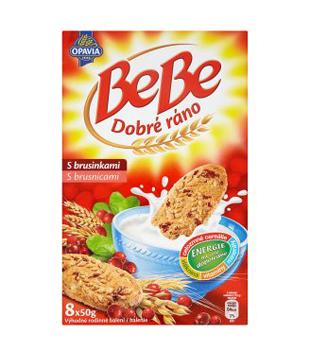 Opavia BeBe Dobré ráno cereální sušenky 400g, různé druhy (8 kusů)