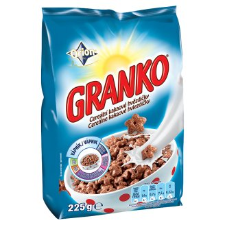 Orion Granko cereální kakaové hvězdičky 225g