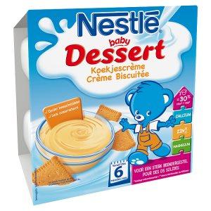 NESTLÉ BABY Dessert Sušenka 4 x 100g