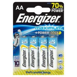 Energizer AA 1,5V maximum alkaline baterie 4 ks