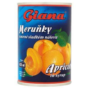 Giana Meruňky v mírně sladkém nálevu 410g